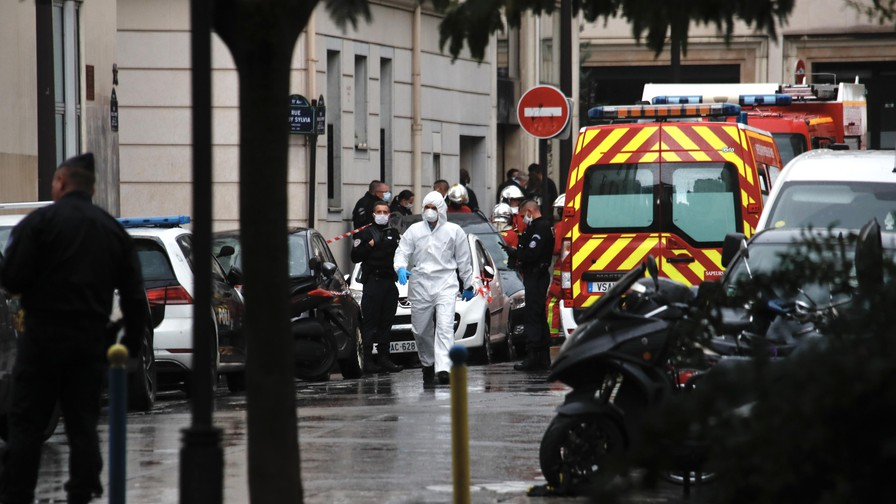 Two journalists stabbed outside former office of satirical magazine Charlie Hebdo in Paris
